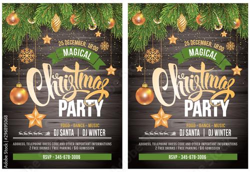 Fotografia  Christmas party design template