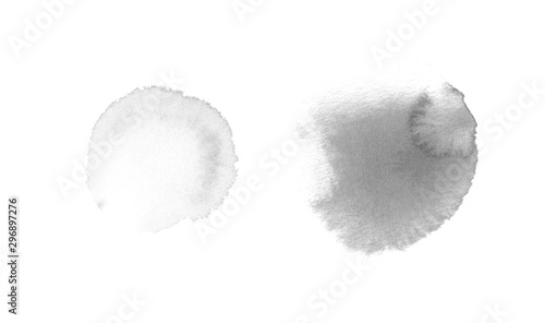 Fotografía  Abstract watercolor gray spots on white background