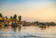 House Boats On The Dal Lake In...