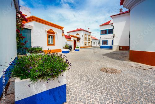 Keuken foto achterwand Oude gebouw View on the old town of Vila Nova de Milfontes, Portugal