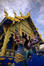 Blue Temple In Chiang Rai Thailand Wat Rong Suea Ten