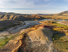More Audacious Aerial Photography Of The Vibrant And Photogenic John Day Fossil Beds And The Iridescent Painted Hills Reservoir Of Wheeler County In Mitchell, Oregon
