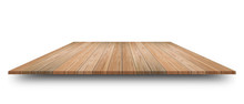 Empty Top Of Wooden Table Or C...