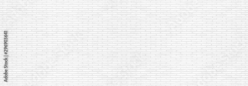 Fond de hotte en verre imprimé Brick wall Abstract white brick wall texture for your design background or wallpaper. Panorama picture.