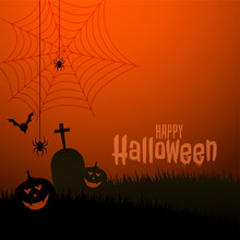 Happy Halloween Scary Theme Festival Background Design