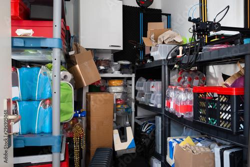 Cuadros en Lienzo  Cluttered Storage Room