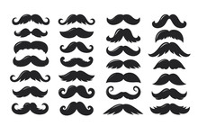 Black Sillhouettes Of Moustach...