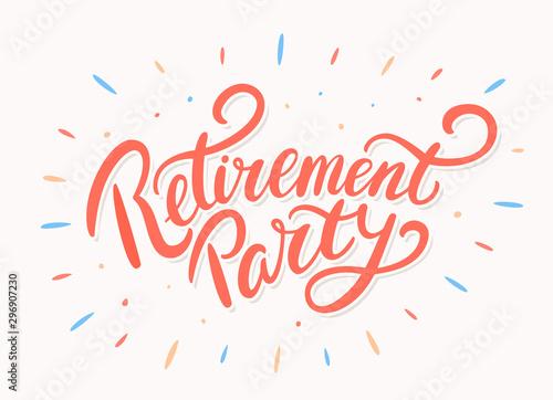 Fototapeta Retirement party. Vector lettering. obraz