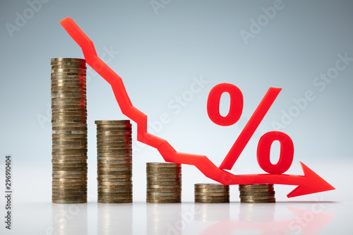 Fotografie, Obraz Interest Rate Decrease Concept