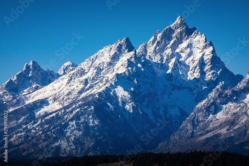 Fotografie, Tablou Snow cover peak of Grand Teton, Wyoming