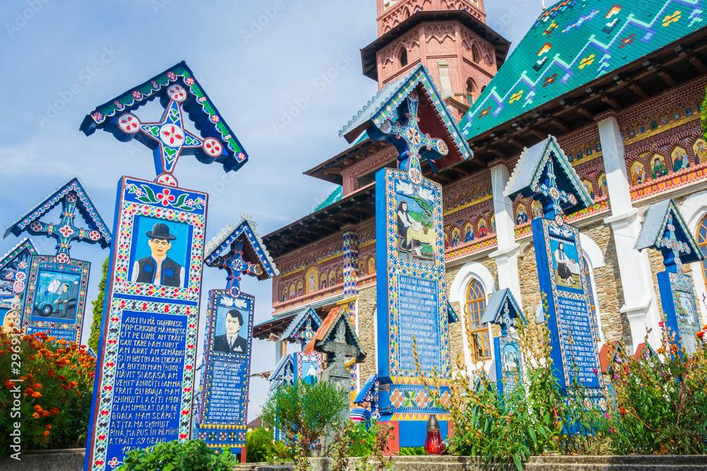 Fototapety, obrazy: Merry Cemetery of Sapanta, Romania, Europe