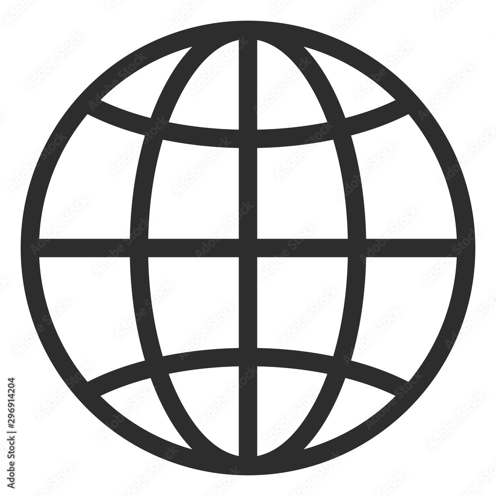 Fototapeta Simple line globe icon