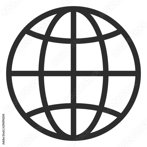 Fotografía Simple line globe icon