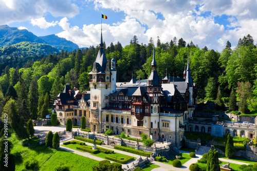 Peles Castle in central Romania, taken in May 2019