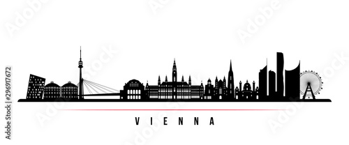 Vienna skyline horizontal banner Canvas Print