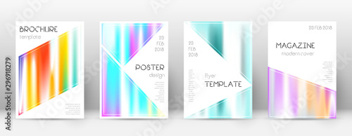 Flyer layout. Triangle resplendent template for Br Canvas Print
