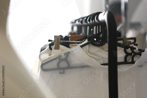 Canvas Print clothes rack on backstage 3