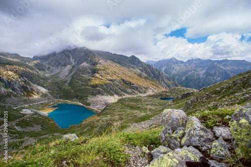 Glacier mountain lake in Brenta Dolomites, Italy Canvas Print