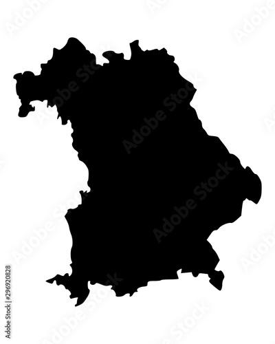 Karte von Bayern Wallpaper Mural