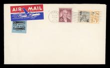Luftpost Airmail USA Amrika Amrica Vintage Retro Alt Old Briefmarken Stmaps Freiheitsstatue Ephraim McDowell Ohio 1959 Flugzeug Rot Blau Weiss Beige Sterne