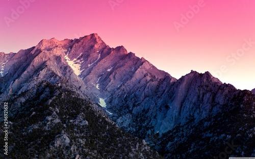 Autocollant pour porte Rose banbon Утро над горами