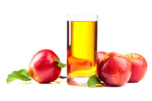 Glass Of Apple Juice And  Appl...
