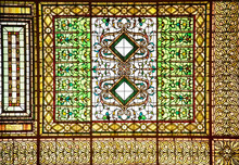 Stained Glass Skylight Ceiling Abstract Background