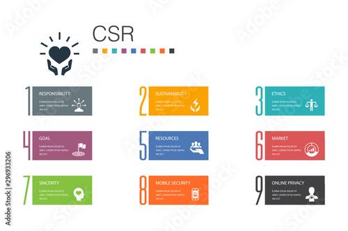 Fotografia  CSR Infographic 10 option line concept
