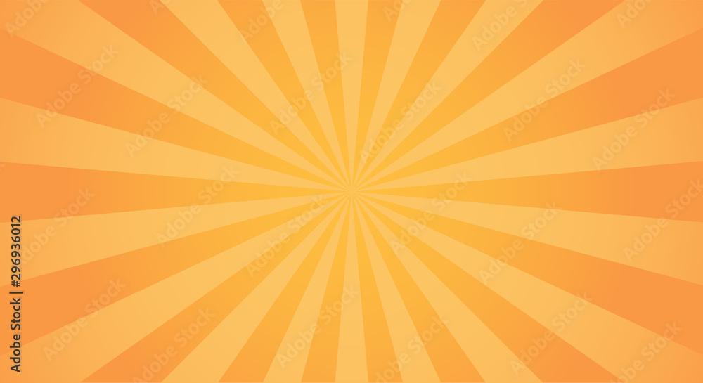 Fototapeta Sunburst light background with sun yellow ray.