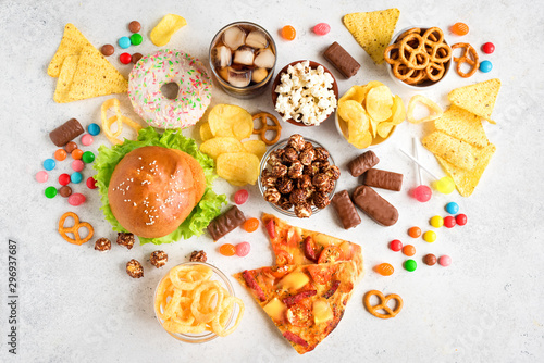 Fotomural Unhealthy eating