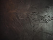 canvas print picture - Shiny black metal painted abstract grunge wall in a dark bar, ragged texture background.