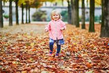 Adorable Cheerful Toddler Girl...