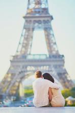 Happy Romantic Couple In Paris...