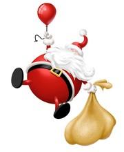 Babbo Natale Con Palloncini