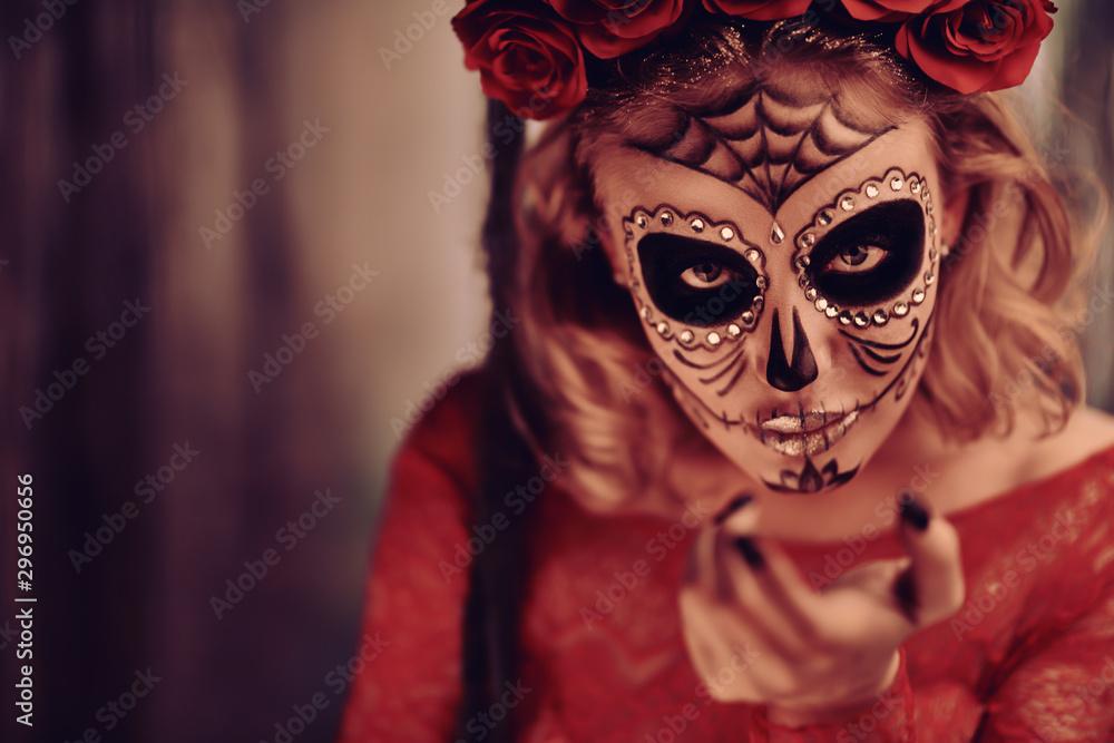 Fototapety, obrazy: Sugar skull girl