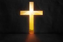 Cross Shaping Door In A Dark R...