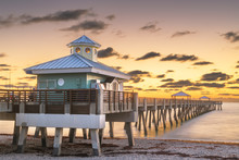Juno Beach Pier Just Before Su...