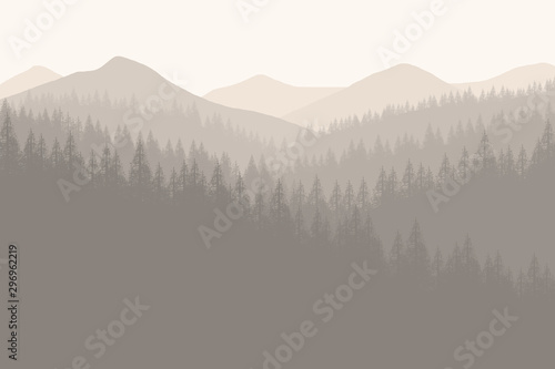 Recess Fitting Gray Flat landscape forest for background , wallpaper