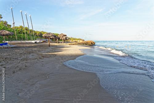 Sunrise at Varadero beach in Cuba Canvas Print