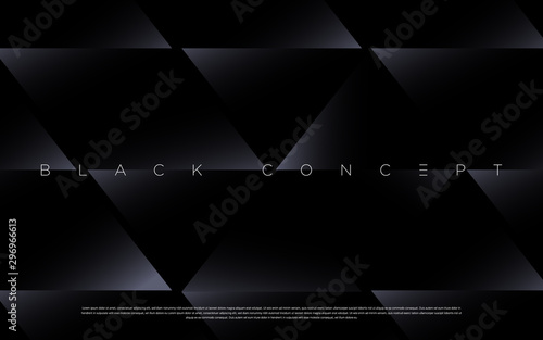 Fotomural  Minimalist black premium abstract background with luxury dark geometric elements
