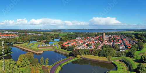 Fototapeta Aerial panorama from Naarden Vesting in the Netherlands obraz na płótnie