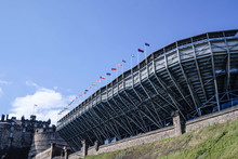 The Grandstand For Edinburgh Military Tattoo At Edinburgh Castle, Scotland.  The Tattoo Is Performed On The Castle Esplanade, And Is Viewed Here From Johnston Terrace.