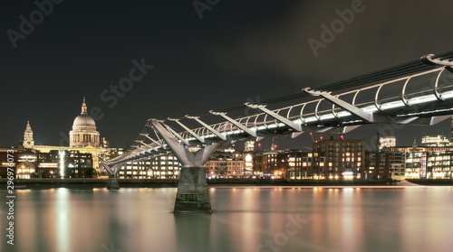 St. Paul's Cathedral and Millennium Bridge Wallpaper Mural