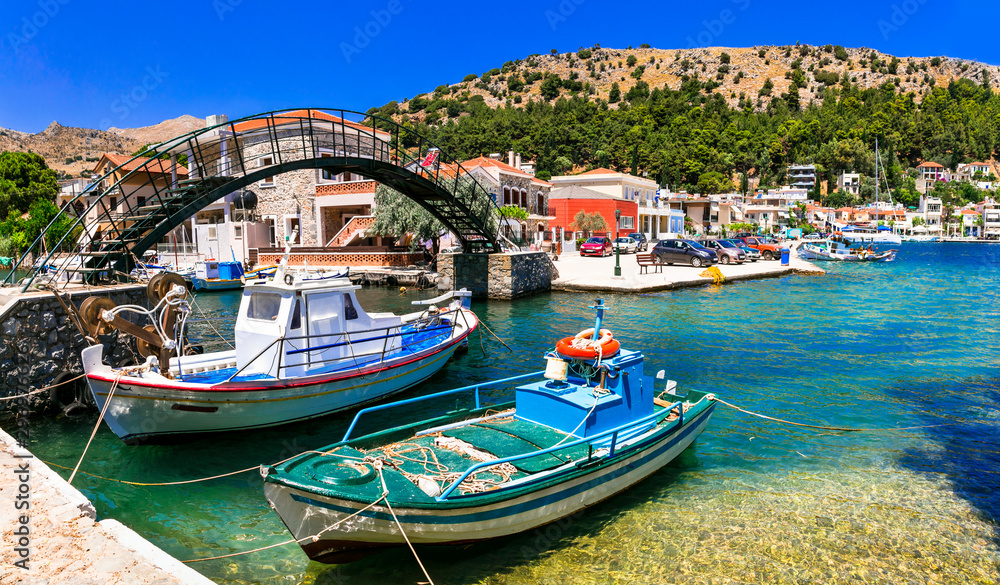 Fototapety, obrazy: Authentic traditional Greece - traditionla fishing old village Lagkada in Chios island