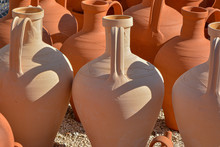 Clay And White Clay Amphora O...