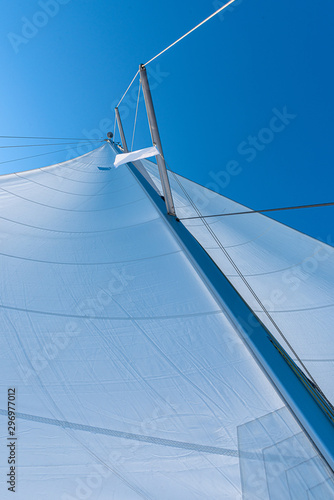Poster Aeroport sail of a sayling yacht