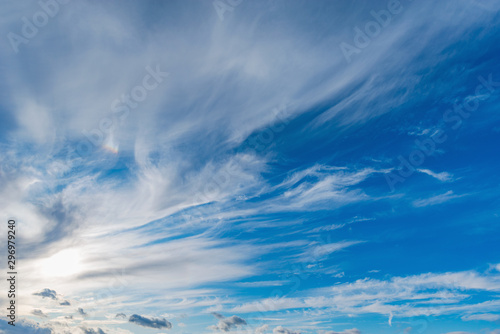 Obraz Amazing cloudscape on the sky at evening time. - fototapety do salonu