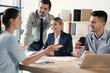 Leinwandbild Motiv Office employees having business training at workplace
