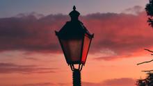 Street Lamp On Background Of B...