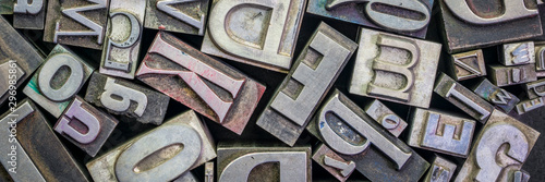 Cuadros en Lienzo old letterpress metal type printing blocks